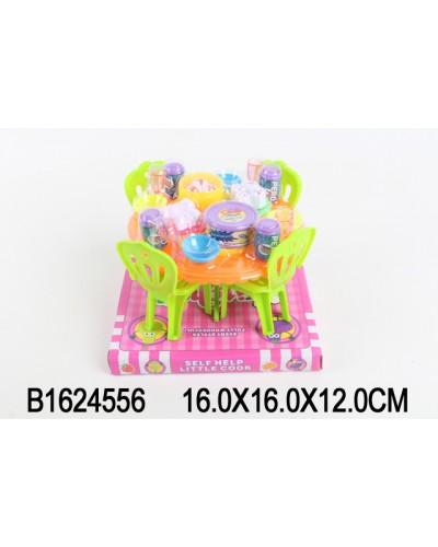 Мебель A8-952  с посудой, продуктами, на планш 16*16*12см