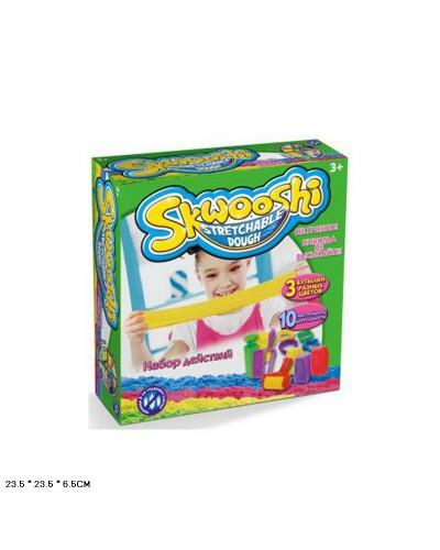 """Игра """"Живой песок-Skwooshi"""" 7221 песок-3 цвета, 10формочек, в коробке 23,5*23,5*6,5см"""