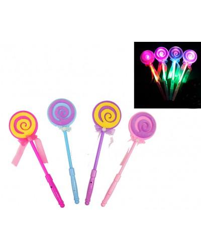 Волшебная палочка L02018C  4 цвета, свет,33 см, в пакете 12*40 см
