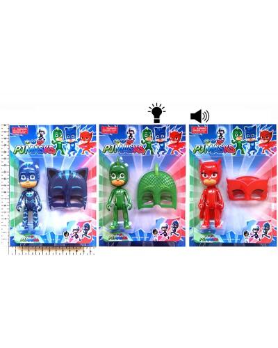 Игровой набор 58865  3 вида, герой, маска, свет, звук, на планш.