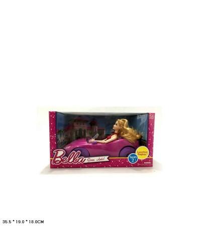 Кукла  DS-008A  с машиной в кор.35,5*18*19 см