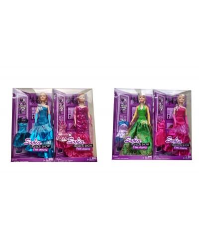 """Кукла типа """"Барби"""" 7720  4 вида, в кор. 32*18*6см"""