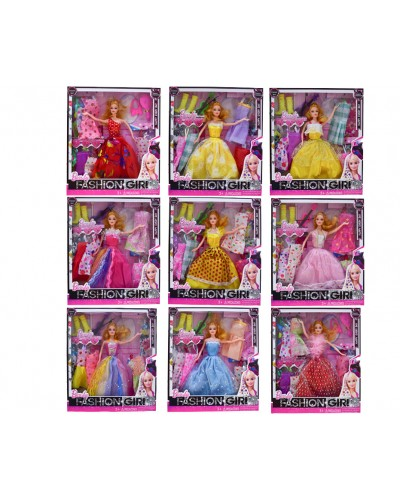 "Кукла типа ""Барби"" 9982-11C  12 видов,с одеждой и аксес, в кор. 33*30*5 см"