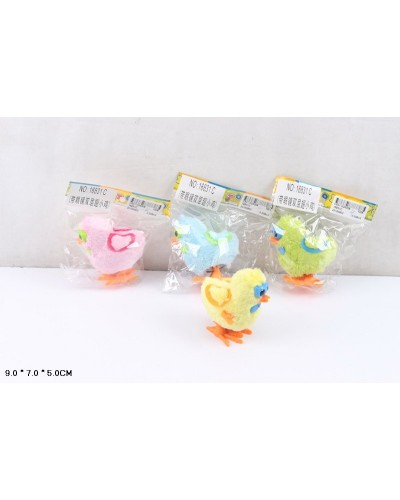 Заводные животные 16831C птенцы, 4 цвета, в пакете 9*7*5см