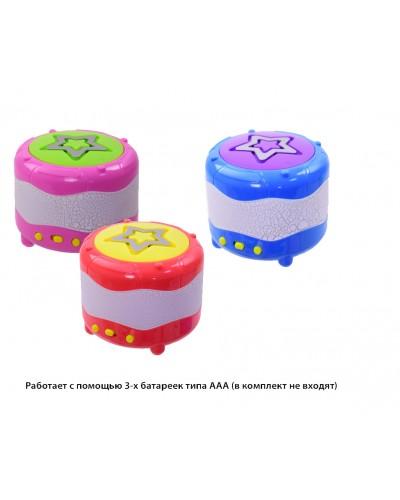 Муз. барабан 903E  свет, звук, мелодии в коробке 8.5*8.5*8.5 см