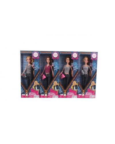 "Кукла типа ""Б"" JX600-89  4 вида, в джинсах, с сумочкой, в кор.34*5*13см"
