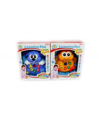 Муз. разв. игрушка 33928AB батар., свет, муз., 2 вида в коробке 19,5*23,8*6см