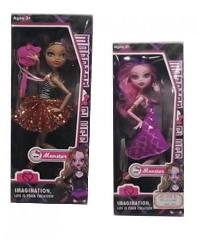 """Кукла """"MH"""" 1078A/В  4 вида, с расческой, в кор."""
