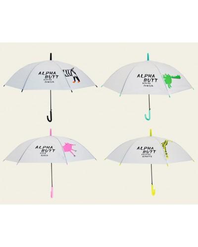 Зонт CLG17215 4 вида, матовая клеёнка, длина трости - 75см, купол - 90см