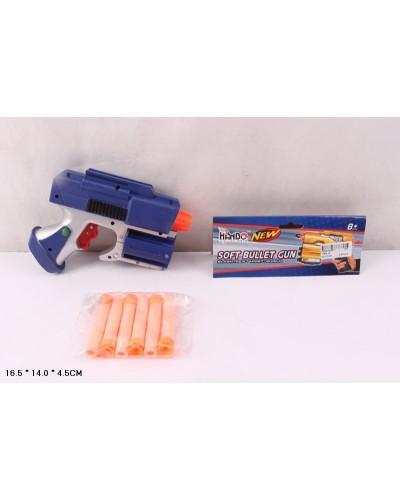 Бластер с поролон.снарядами 118A-10  пули, в пакете 16,5*14*4,5см
