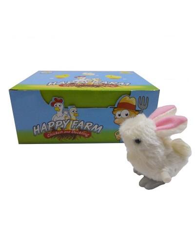 Заводные кролики 203 2 вида,12шт в дисп.боксе