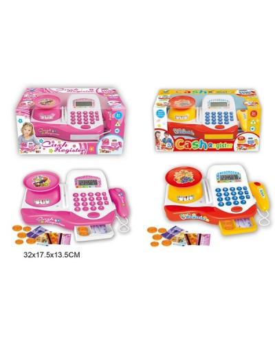Кассовый аппарат 66066/66063 2вида, свет-звук, сканер, калькулятор, весы в кор.32*18*14см