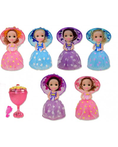 "Кукла ""C"" 2359  6 видов, муз, расчес, превращ в морож-е,кор.9,5*9,5*16см"