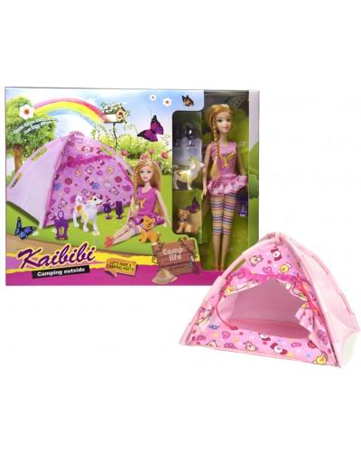 "Кукла типа ""Барби"" BLD146  с питомцами, с палаткой, в кор.42*5.5*33см"