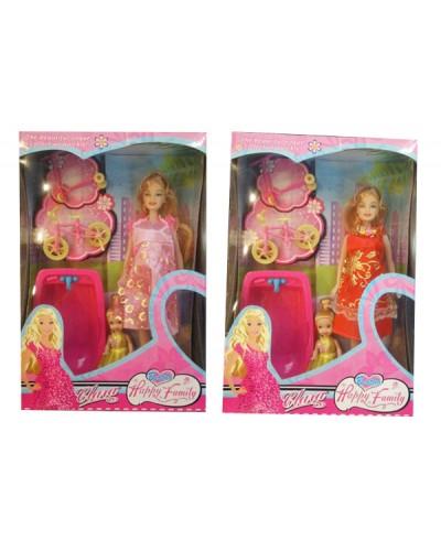 """Кукла типа """"Барби""""Беременная"""" 88076-2 2вида, с мал кукол, ванной, вел, в кор.33*22*8,5см"""