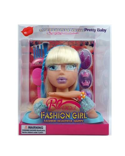 Голова куклы 3390  расческа, браслеты, кисти, заколки, аксесс, в кор.
