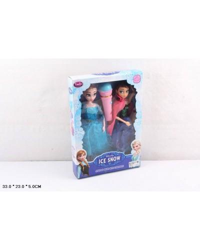 """Кукла """"F"""" 8802A-1  2 в наборе, МУЗ микрофон, в кор.33*23*5см"""