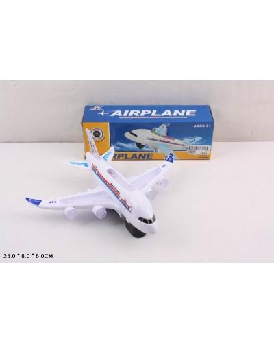 Самолет батар. A380-900 свет, звук, в кор. 23*8*6см