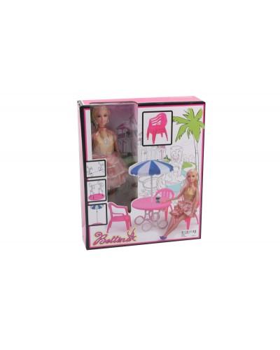Кукла  68084  стул, стулья, зонт, в кор.32,5*27*8 см