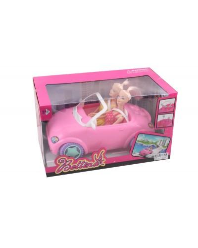 Кукла  68086  кукла, машина, в кор.20*34*19 см