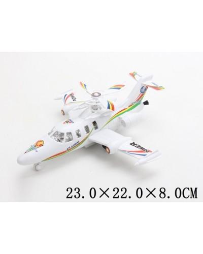 Заводной самолет 2087A-2  в пакете 23*22*8см