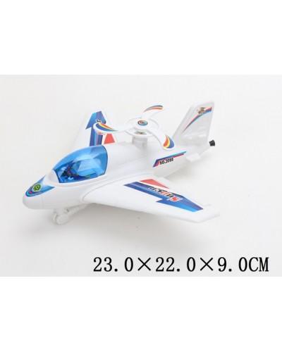 Заводной самолет 2098  в пакете 23*22*9см