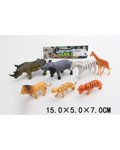 Животные LD-630 дикие, 7 видов, в пак 15*5*7см