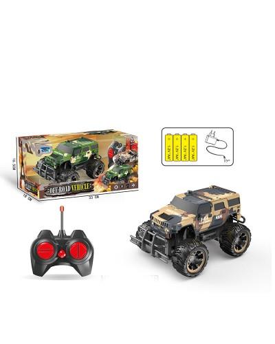 Машина аккум.батар., р/у 666-107B/108B  пульт на батар.,в коробке 33*18*16,5см