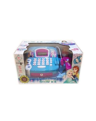 """Кассовый аппарат """"F"""" 66031BX  свет-звук, сканер, калькулятор, продукты, в кор. 15*28*18см"""