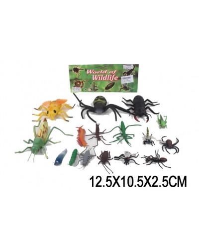 Животные P56  насекомые ,16 шт в пакете 12,5*10,5*2,5см