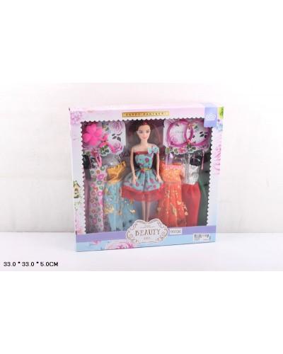 Кукла  YX1012A3 72шт/2  платья, аксес, в кор.33*33*5 см