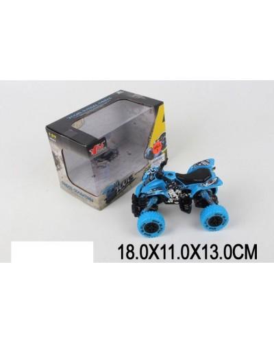 Квадроцикл металл 1:32 MY66-Y1108  pull back, в коробке 18*11*13см
