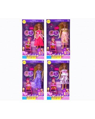 """Кукла """"Беременная"""" 8213-5A 4 вид,куколка, стульчик д/кормления, аксесс, в кор.32*18*6см"""
