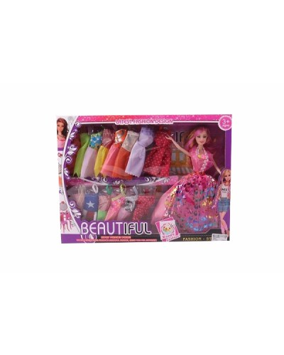 "Кукла типа ""Б"" K885D  36шт/2  платья в наборе, в кор. 43*32*6см"