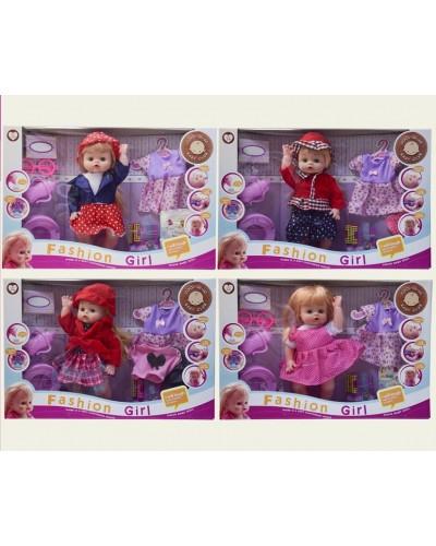 Кукла функц 6626-12/9/20/1/2/3A  6 видов,пьет-пис., горшок, бутыл, аксесс, в кор.50*33*10см