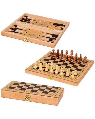 Шахматы дерев. S3023  в коробке 29*14*4см