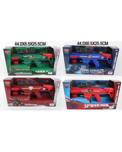 Автомат A99901/2/3/5    36шт/2   прицел, 4 вида, в коробке 44*6,5*25,5см