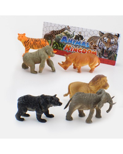 Животные 9618-25    дикие, 6 штук  в пакете 21,5*25cm