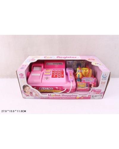 Кассовый аппарат 2338A св-звук, сканер, калькулятор, продукты,деньги в кор. 27*13*11см