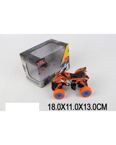Квадроцикл металл 1:32 MY66-Y1104 pull back, в коробке 18*11*13см