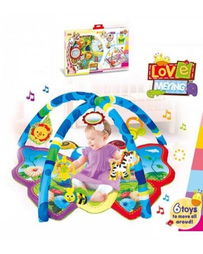 Развивающий коврик Meying Love для малышей 023-10 с погремушками на дуге, в коробке 79,7*45,5*8,5см