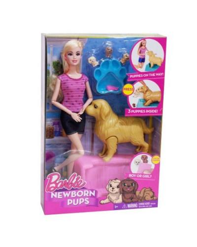 "Кукла ""B"" FB057  2 вида, собака рожает щенят, аксес, в кор.21.5*6*32,5см"