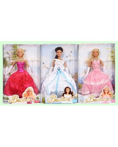 """Кукла типа """"Барби"""" 3212ABCD 3 вида, в бальном платье, в кор.33*21*6см"""