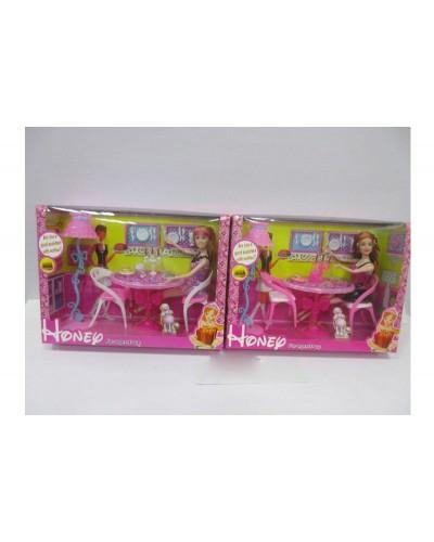 "Кукла типа ""Барби"" 829-236 2 вида, с мебелью, в кор.35*26*10см"