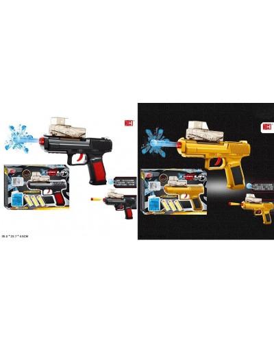 Пистолет XH332  2 цвета, с пулями, в коробке 35*23,7*4,5см