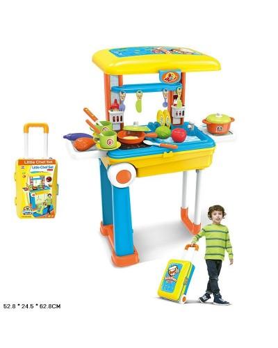 """Набор """"Кухня"""" 008-926A чемодан превращ.в кухню,  плита, посуда,  продукты в кор.  52,8*24,5*62,8см"""