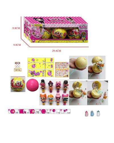 Герои JL18157 (48шт/2) Confetti Pop, шар + аксес+функц: пьет плюет+хлопушка , цена за 3 шт в дисп. б