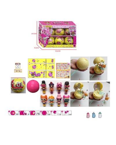 Герои JL18158 (24шт/2) Confetti Pop, шар + аксес+функц: пьет плюет+хлопушка , цена за 6 шт в дисп. б
