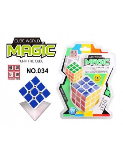 Кубик логика 034 (120шт/2) 3*3,2 кубика на блистере 17*21см