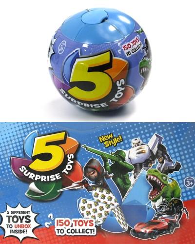 Герои 520 (12шт/2) шар состоит из 5 сегментов в каждом игрушка, цена за 12 шт в дисп. боксе 35*26,2*
